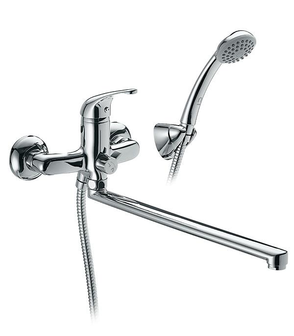Смеситель для ванны и душа MILARDO DAVIS DAVSBLCM10 с длинным изливом однорычажный с лейкой смеситель для ванны и душа wasserkraft aller 1062l white с длинным изливом 9061184