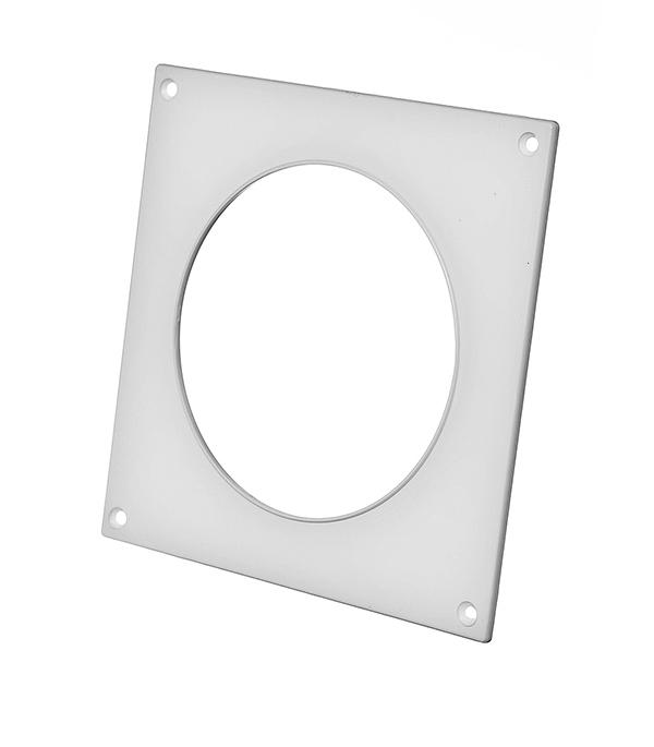 Купить Накладка настенная для круглых воздуховодов пластиковая d100 мм, Белый, Пластик