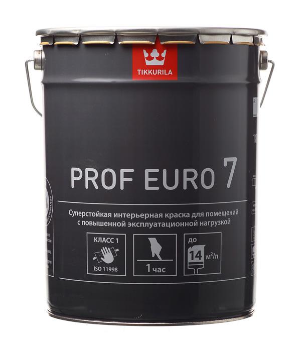 цена на Краска водно-дисперсионная Tikkurila PROF EURO 7 моющаяся белая основа А 18 л