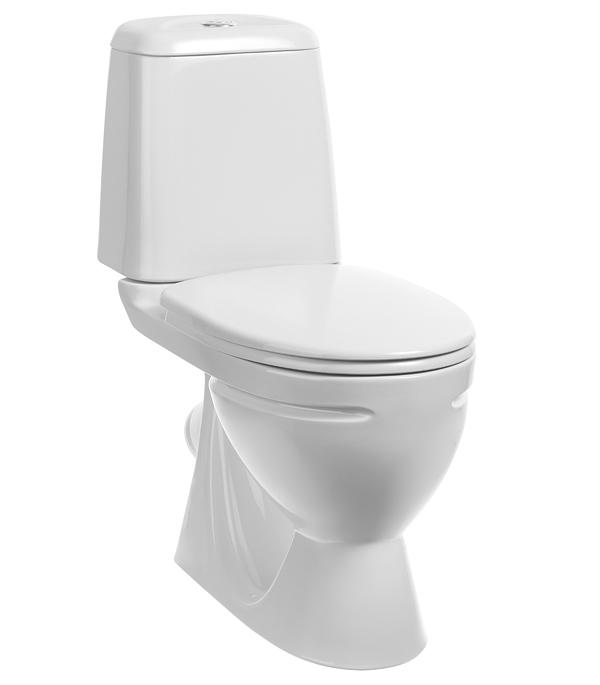 Унитаз-компакт SANITA Идеал с косым выпуском с сиденьем пластик sanita идеал 01 белое