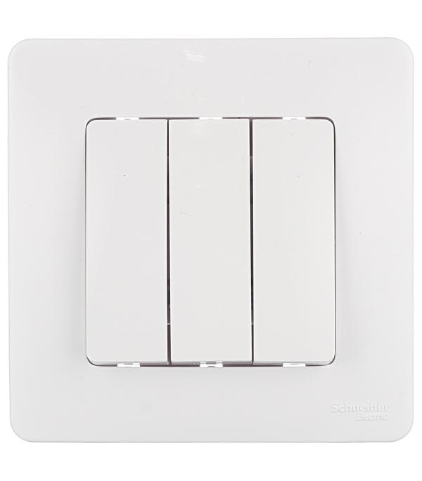 Купить Выключатель трехклавишныйс/у Schneider Electric Blanca белый
