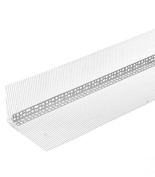Профиль углозащитный пластиковый с сеткой 100х150мм, 3м цена
