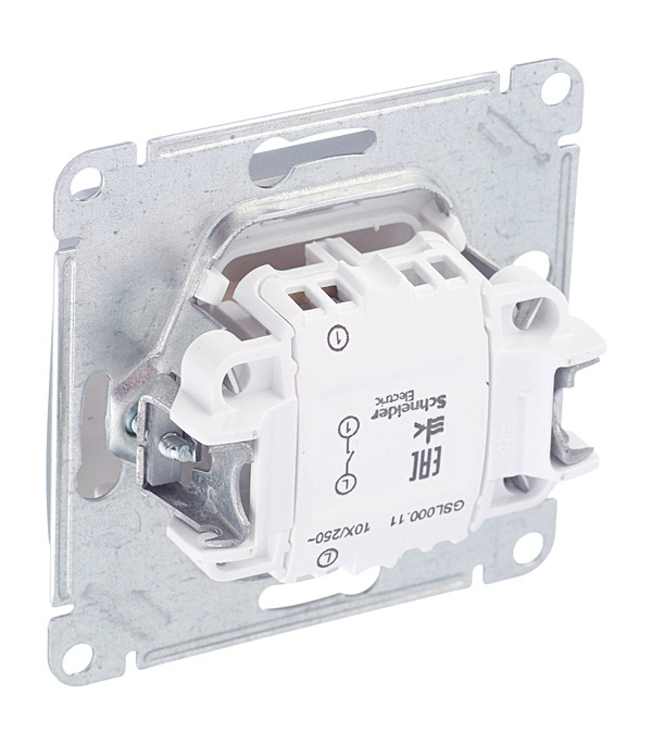 Выключатель Schneider Electric Glossa GSL000311 одноклавишный скрытая установка алюминий фото