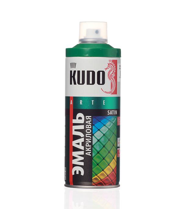 Эмаль аэрозольная Kudo Satin зеленая полуматовая RAL 6029 520 мл стоимость