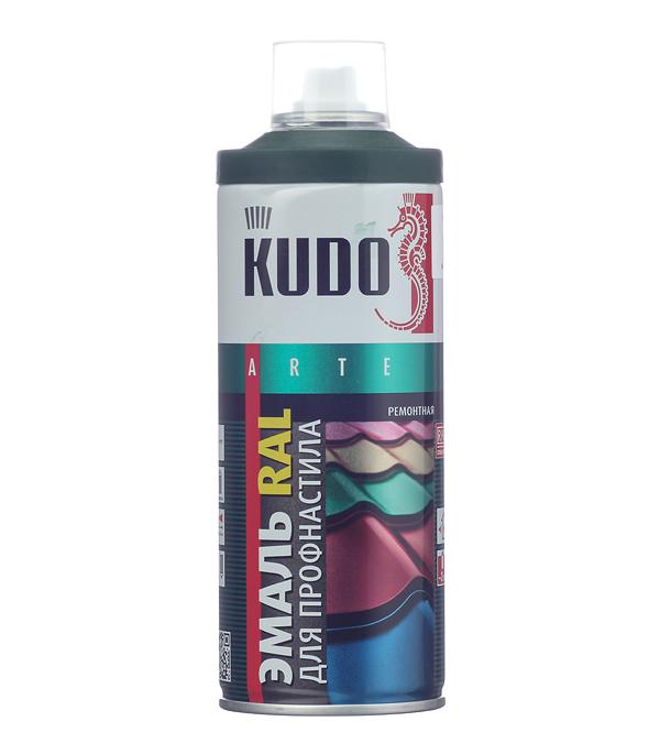Купить Эмаль для металлочерепицы аэрозольная Kudo Ral 6005 зеленый мох 520 мл, Зеленый