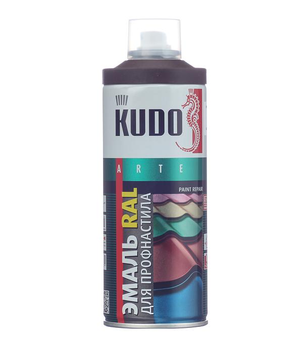 Эмаль для металлочерепицы аэрозольная Kudo Ral 8017 шоколадно-коричневый 520 мл колпак на столб 400х400 коричневый ral 8017