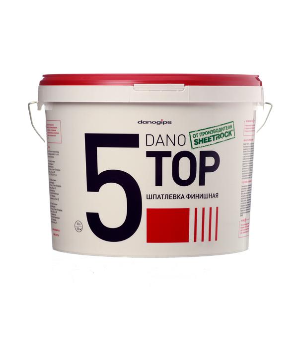 Шпатлевка финишная Dano Top 5 10 л шпатлевка для стыков гкл 5 кг
