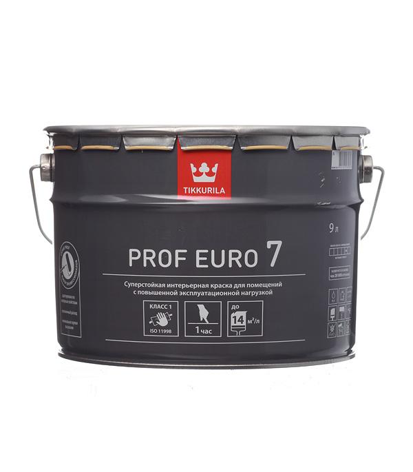 цена на Краска водно-дисперсионная Tikkurila PROF EURO 7 моющаяся белая основа А 9 л