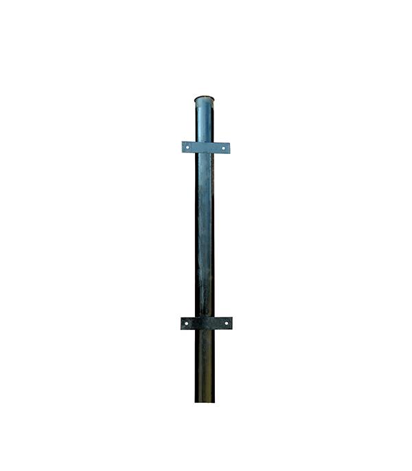 Столб для забора d48 мм 2,4 м с планками эмаль черный столб для забора 62х55х1 4 мм 2 5 м оцинкованный