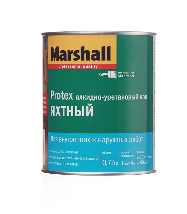 цена на Лак алкидно-уретановый яхтный Marshall Protex бесцветный 0,75 л полуматовый