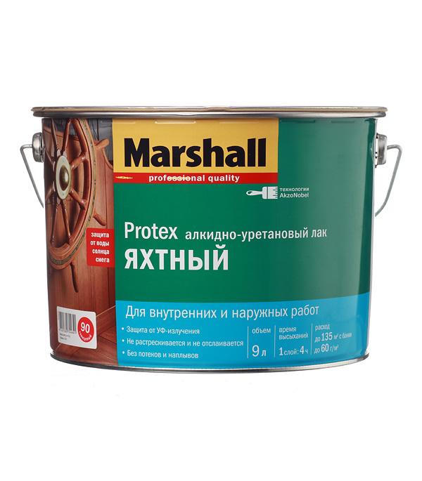 цена на Лак алкидно-уретановый яхтный Marshall Protex бесцветный 9 л глянцевый