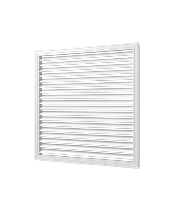 Решетка вентиляционная, 600х 600, белая, ПВХ цена