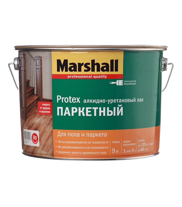 купить Лак алкидно-уретановый паркетный Marshall Protex бесцветный 9 л глянцевый онлайн