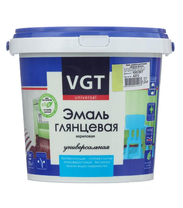 Эмаль акриловая глянцевая зеленое яблоко VGT 1 кг эмаль акриловая матовая синяя vgt 1 кг