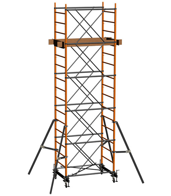 Вышка-тура стальная 12.4 м рабочая высота 13.