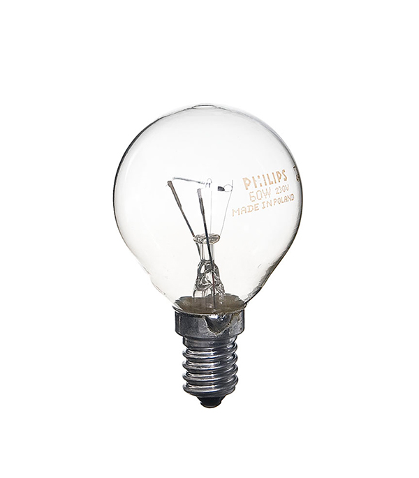 Лампа накаливания Philips E14 60W Р45 шар CL прозрачная лампа накаливания philips e14 60w р45 шар fr матовая
