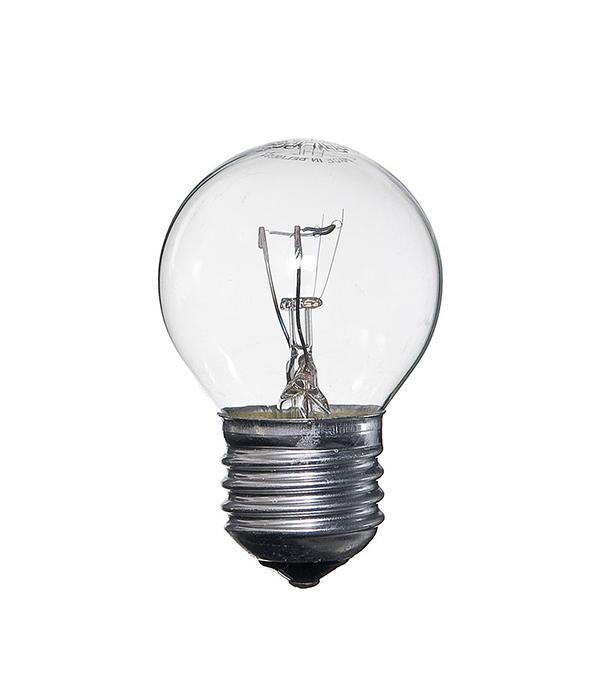 Лампа накаливания Philips E27 60W Р45 шар CL прозрачная лампа накаливания philips e14 60w р45 шар fr матовая