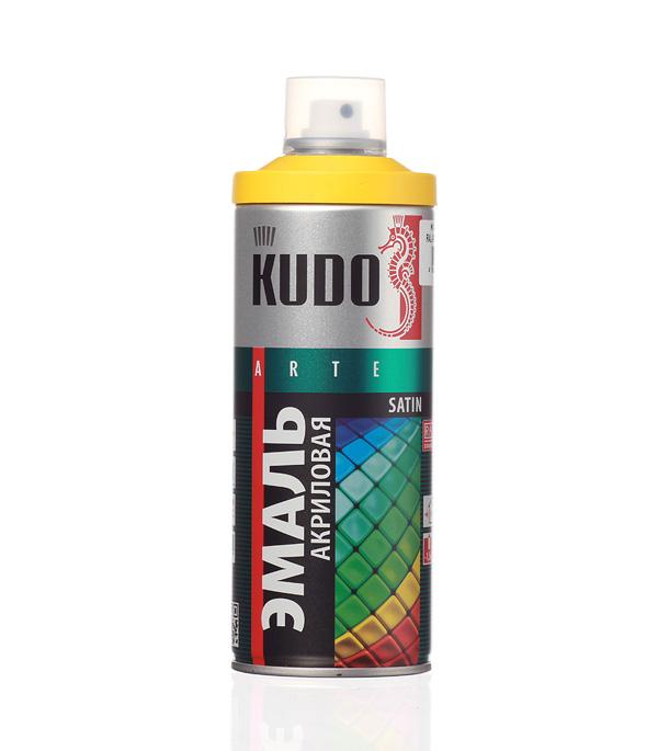 Эмаль аэрозольная Kudo Satin ярко-желтая полуматовая RAL 1023 520 мл стоимость