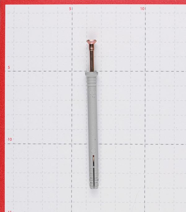 Дюбель-гвоздь Tech-Krep 6x80 мм потайная манжета полипропилен (90 шт.) фото