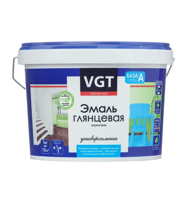 Эмаль акриловая глянцевая супербелая основа А VGT 2,5 кг