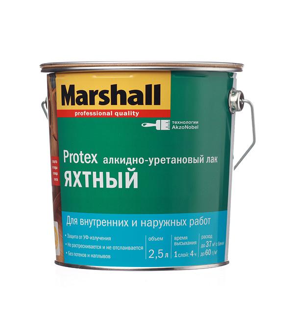 цена на Лак алкидно-уретановый яхтный Marshall Protex бесцветный 2,5 л полуматовый