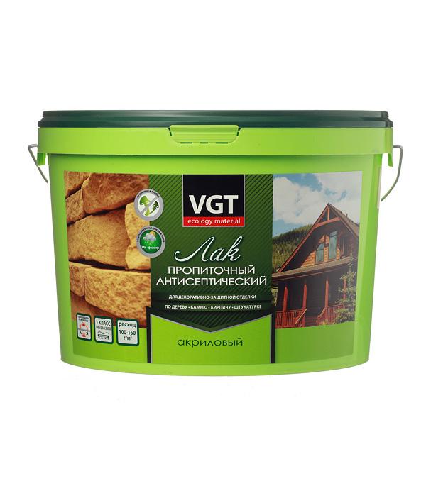 Лак антисептик акриловый VGT белый 9 кг все цены