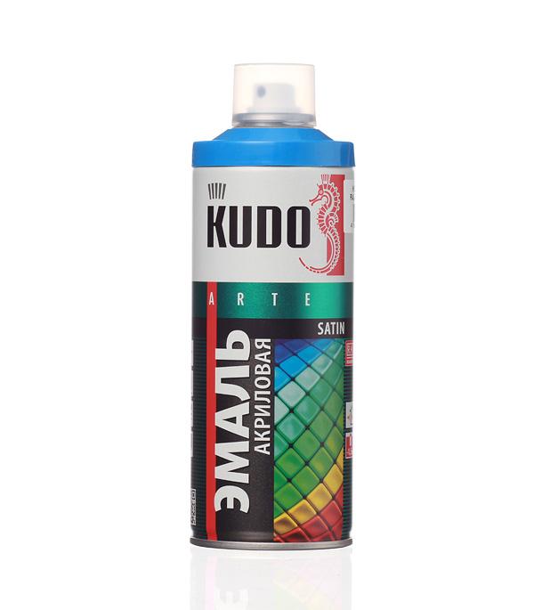 Эмаль аэрозольная Kudo Satin голубая полуматовая RAL 5015 520 мл стоимость