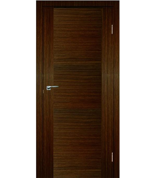 Дверное полотно шпонированное Vario орех трюфель 2000х600 мм глухое без притвора сотовый