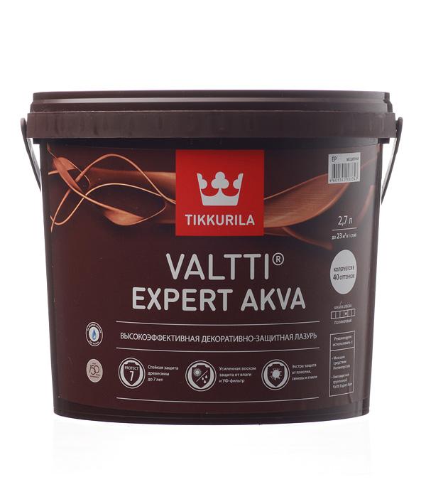 Антисептик Tikkurila Valtti Expert Akva декоративный для дерева бесцветный 2,7 л