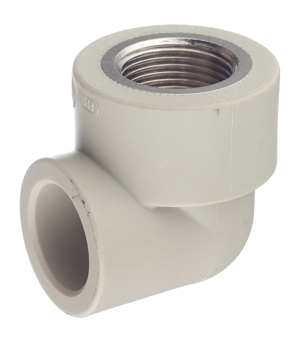 Угол полипропиленовый FV-PLAST (218025) 25 мм х 3/4 ВР(г) серый