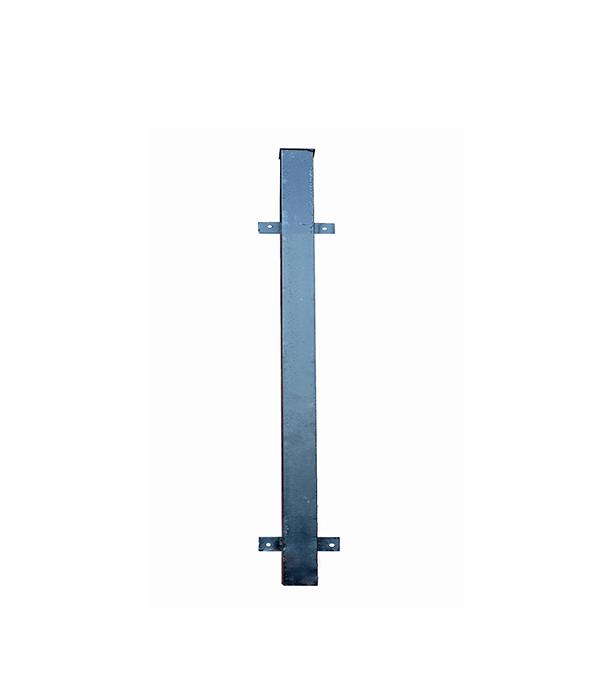 Столб для забора 60х60х1,5 мм 3 м с планками эмаль черный столб для забора 62х55х1 4 мм 2 5 м оцинкованный