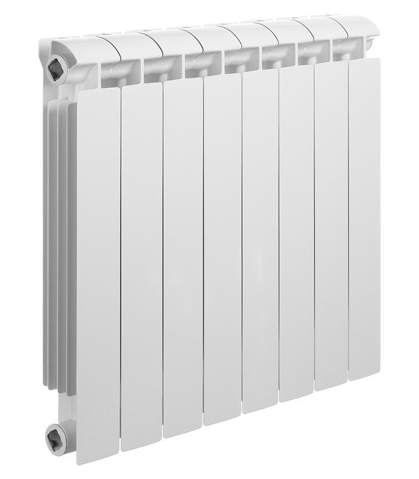 Радиатор биметаллический Global Style Extra 500 мм 8 секций 1 боковое подключение белый биметаллический радиатор rifar рифар b 500 нп 10 сек лев кол во секций 10 мощность вт 2040 подключение левое