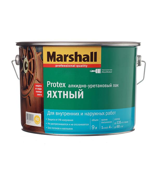 цена на Лак алкидно-уретановый яхтный Marshall Protex бесцветный 9 л полуматовый