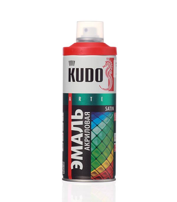 Эмаль аэрозольная Kudo Satin алая полуматовая RAL 3020 520 мл стоимость