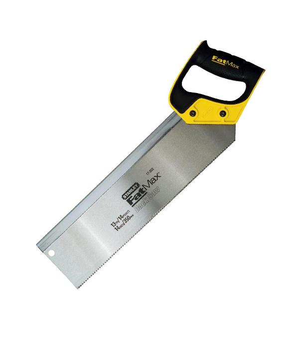 Ножовка по дереву Stanley 350 мм мелкий зуб с обушком