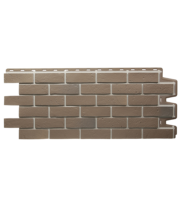 Фасадная панель Docke-R Berg 1008х434 мм коричневая