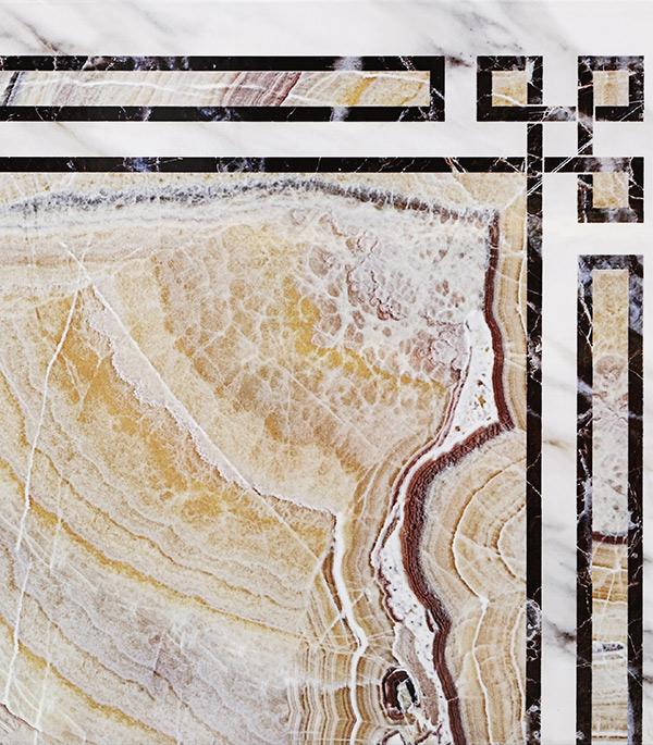 цены на Плитка напольная Евро-Керамика Монтерросо золотистый мрамор угол 330x330x8 мм (9 шт.=1 кв.м) в интернет-магазинах