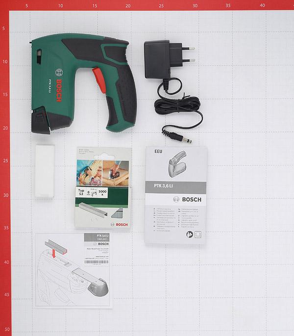 Скобозабивной пистолет аккумуляторный Bosch PTK 3.6 LI (603968120) 3,6В 1,3Ач Li-Ion