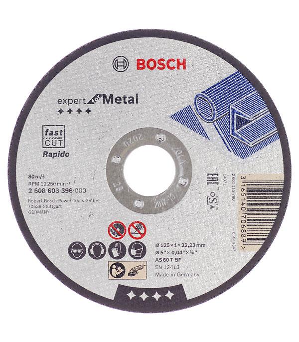 Круг отрезной по металлу 125х22х1мм Bosch Профи диск шлифовальный с липучкой р40 d 125 мм 5 шт перфорированный bosch профи