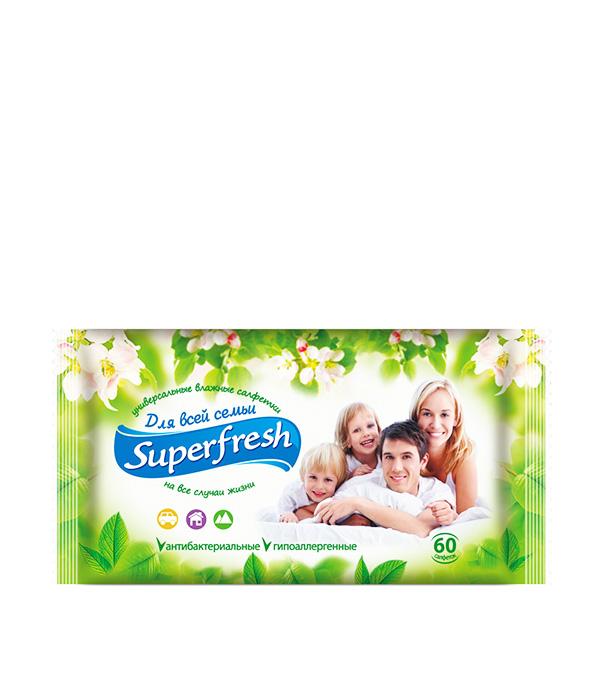 все цены на Влажные салфетки Superfresh Универсальные (60 шт) онлайн
