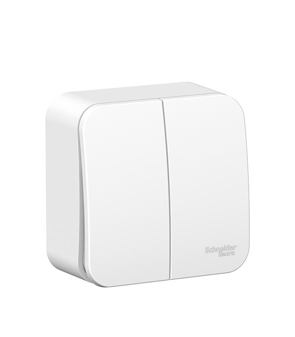 Выключатель двухклавишный о/у Schneider Electric Blanca белый выключатель двухклавишный этюд о у белый