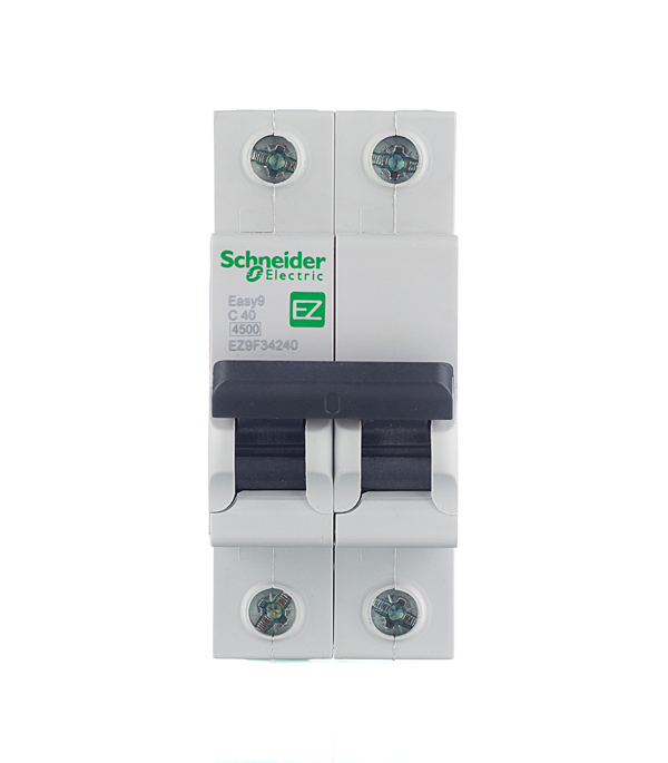 Автомат 2P 40А тип С 4.5 kA Schneider Electric Easy9 автомат 1p 6а тип с 4 5ка schneider electric easy9