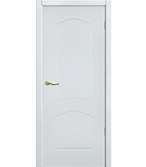 Дверное полотно окрашенное Арктика белое 900х2000 мм глухое без притвора