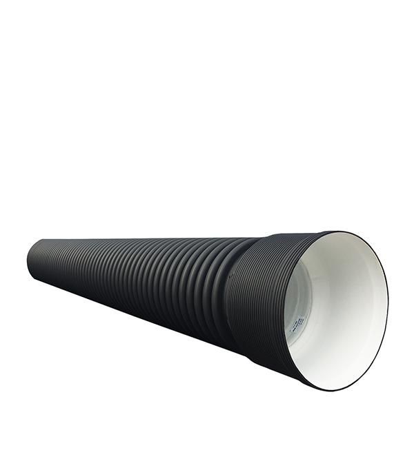 Труба двустенная гофрированная ПНД d315/276 мм 6 м SN6 с раструбом фото