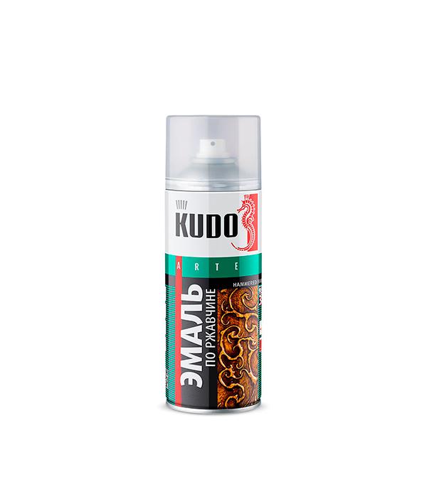 Эмаль по ржавчине Kudo RAL 3013 серебристо-черная молотковая аэрозольная 520 мл