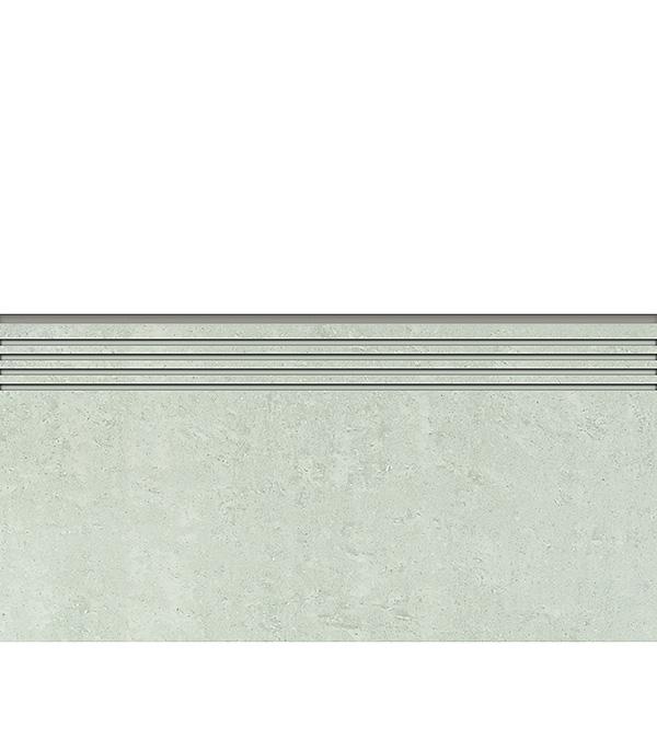 Керамогранит декор 294х600х10 мм светло-серый Travertino ступень полированный/Грасаро керамогранит декор 76х600х10 мм бежевый travertino плинтус грасаро