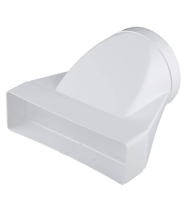 Соединитель эксцентриковый пластиковый для плоских воздуховодов 60х204 мм с круглыми d125 мм врезка оцинкованная для круглых стальных воздуховодов d125х100 мм
