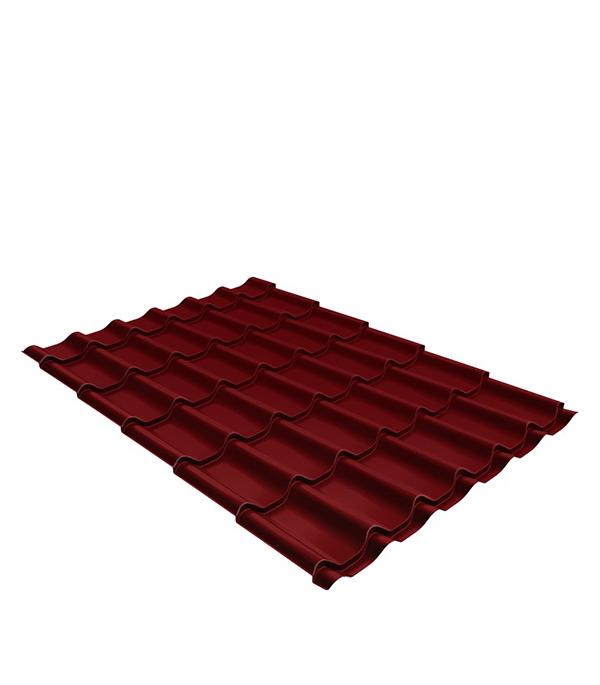 Купить Металлочерепица 1, 18х3, 60 м толщина 0, 5мм Satin красное вино RAL 3005, Красное вино