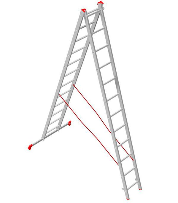 Лестница Новая высота 2-х секционная 2х12 лестница krause 3 х секционная универсальная 3х7
