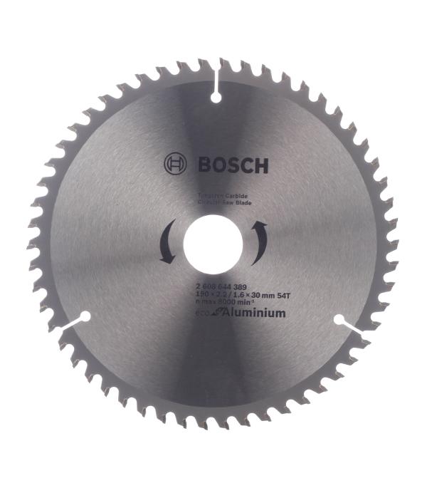 Диск пильный по алюминию Bosch Multi ECO 190х54х30 мм диск пильный bosch multiline eco по алюминию 250x30мм 80 зубьев